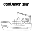 Container ship of transportation vector image