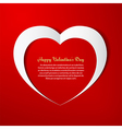 Heart paper background vector image vector image
