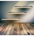 Wooden interior with shelf background EPS 10 vector image vector image