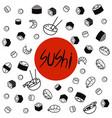 japan food menu restaurant asian food poster top vector image
