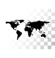 black world map vector image
