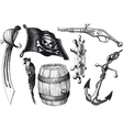 Pirate set attributes vector image vector image