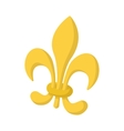Royal french lily icon cartoon style vector image