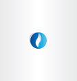 abstract blue circle business logo sign vector image