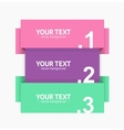 Banner Strip Option Number vector image