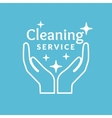 Corporate identity for company cleaning service vector image