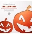 halloween abstract pumpkin vector image