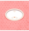 Retro Frame on Pink Background vector image
