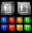 Suicide concept icon sign Set of ten colorful vector image