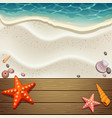wood and sand background vector image