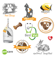 pet logo vector image