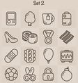 Outline Icons Set 2 vector image