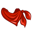 A red scarf vector image