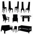 table and chair black vector image