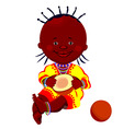 baby with coconut vector image vector image