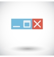 Web navigation button vector image