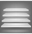 Emrty Shelves vector image
