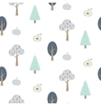 Blue forest seamless pattern with apples vector image