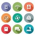 Communication flat icons set vector image