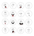 Emotion smiles set 003 vector image
