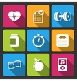 Healthy lifestyle iconset for fitness app vector image