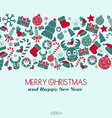 Vintage New Year and Christmas Card Christmas vector image