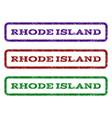 Rhode island watermark stamp vector image