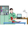 veterinary clinic medical template vector image