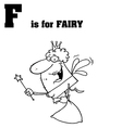 Cartoon fairy with letter vector image