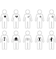 People pictogram icons vector image vector image