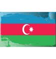 azerbaijan national flag vector image vector image