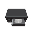 video cassette recorder or vcr with cassette vector image