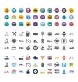 Transportation icon set vector image vector image