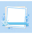 Snowflakes and white sheet of paper vector image vector image