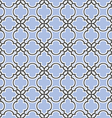 Blue seamless pattern islamic style vector image