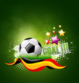 Football artistic background vector image vector image