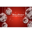 Christmas ball on the red background vector image