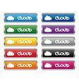 Cloud metallic rectangular buttons vector image