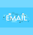 email infogradic line vector image
