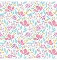 Emboridered garden seamless pattern background vector image
