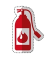 extinguisher fire isolated icon vector image