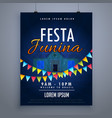 festa junina holiday flyer poster design template vector image
