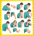 Muslim ablution postion vector image