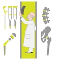 Set of Flat Icons From Surgery and Orthopedics vector image