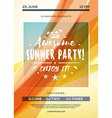 Summer Beach Party Flyer or Poster Summer Night vector image