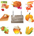 thanksgiving day icons vector image
