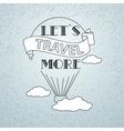 Travel theme vector image