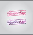 valentine day font logo vector image