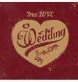 vintage love heart Wedding decoration vector image