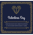 Vintage Style Invitation for Wedding Save the Day vector image